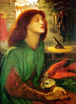 Beatrice at the moment of her death. Beata-Beatrix (c. 1864-1870) by Dante Gabriel Rossetti