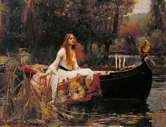 The Lady of Shalott (1888) by John William Waterhouse