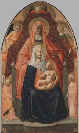 the Virgin and Child with St Anne Masaccio